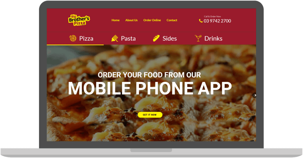 Online Food Ordering System Wall