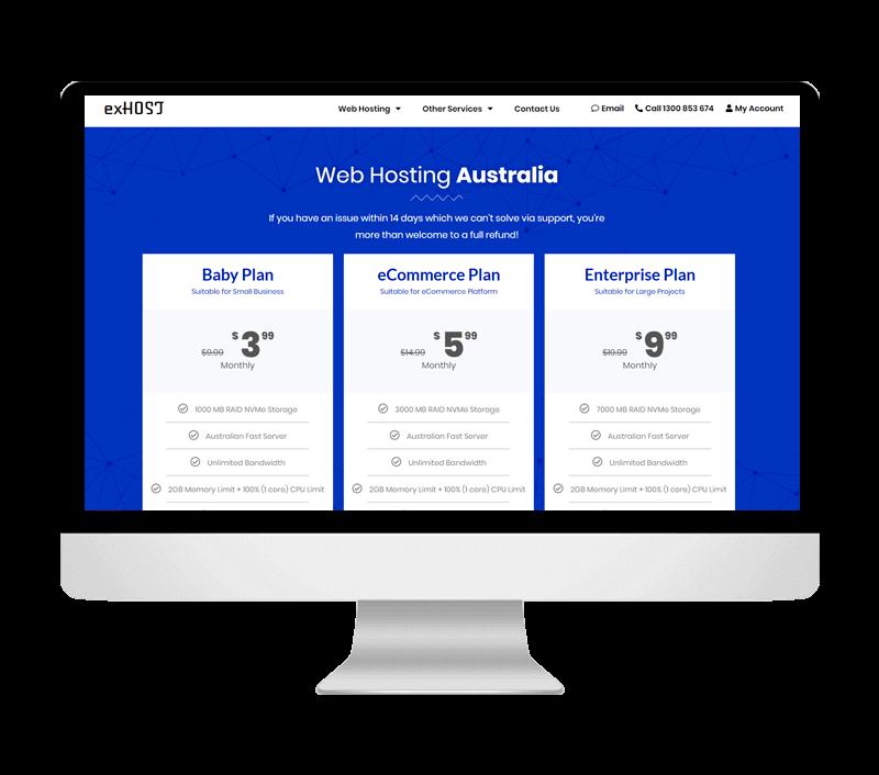 exHOST Web Design Portfolio